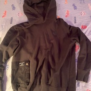 Undefeated Rare Black Baggy Hoodie With Pocket